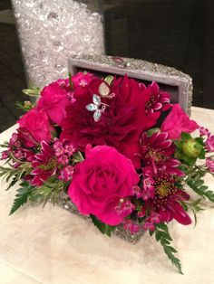 Jewelry box overflowing with flowers and jewelry! www.cityscents.com