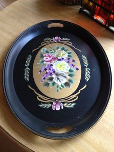 Thrift store find $ 2  Tole painted tray