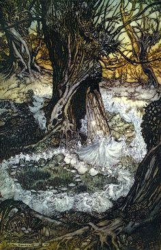 "Arthur Rackham ""Midsummer night"" act II scene II"