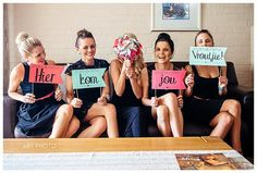 """Wedding Photo Ideas and Poses -"""" Here comes your wife"""" Bridesmaids (4)"""