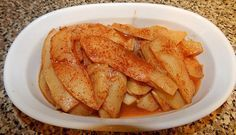 """Ideal Protein Phase 1 Baked Caramel Chayote """"Apples"""" O.M.G. these are so delicious!!!!!!!!!!!!!!!"""