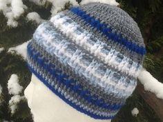 Zimná štvorfarebná hačkoVaná čiapka