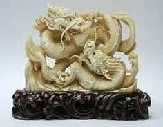 International Arts and Crafts -- Carvings, animal mammoth and hippo ivory carvings, netsuke, jewelry