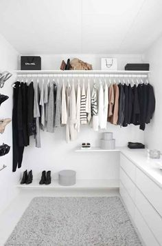 Simplify your closet, keep only what you love and what suits you.