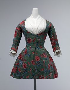 Caraco Date: second half 18th century Culture: Dutch Medium: cotton Dimensions: Length at CB: 26 in. (66 cm) Credit Line: Purchase, Gifts from various donors, 2000 Accession Number: 2000.251