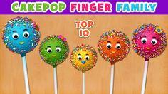 "Watch and enjoy ""cake pop finger family"" nursery rhyme for children. Lyrics: Daddy finger, daddy finger, where are you? Sister Finger, Mommy Finger, Finger Family Song, Family Songs, Baby Finger, Baby Songs, Kids Songs, Finger Rhymes, Boodles"