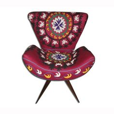 Frida Chair Suzani Red now featured on Fab.