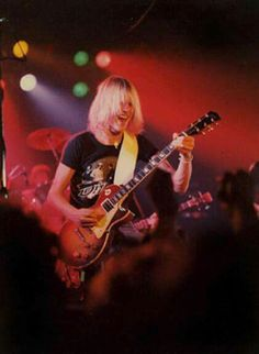 Michael Schenker with a Les Paul