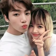 You know I don't really ship idols but... this is kinda cute. || Jungkook from BTS • Lisa from BLACKPINK
