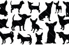 Chihuahua Silhouette Vector Graphics