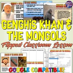 Genghis Khan and the Mongol Empire PowerPoint Lesson World History Classroom, World History Teaching, World History Lessons, History For Kids, History Quotes, Best History Books, Middle School History, Ap Exams, Powerpoint Lesson