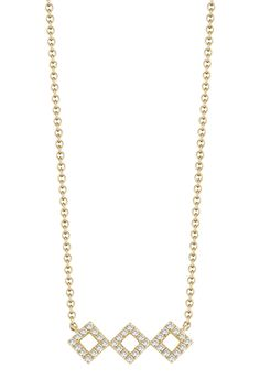 length with extension. ImportedPlease note: Diamond weight may not be exact. Dana Rebecca, Lisa, Gold Necklace, Yellow, Diamond, Nordstrom Rack, Lobster Clasp, Note, Color