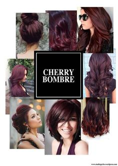 9 hottest burgundy hair color ideas cherry bombre for 2017 Hair Color And Cut, New Hair Colors, Winter Hair Colors, Pravana Hair Color, Violet Hair Colors, Purple Hair, Burgundy Hair Ombre, Red Burgundy, Bob Hairstyles