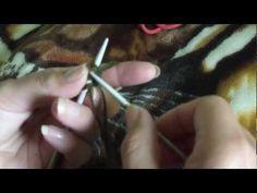 MÉTODO 3: montaje tejido con dos agujas a la inglesa.