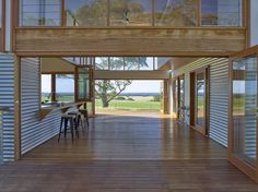 Located in South Australia, Waitpinga House is a family retreat designed by Mountford Williamson Architecture. Australian Architecture, Australian Homes, Shed Plans, House Plans, Clad Home, Shed Homes, Breezeway, Coastal Homes, Coastal Living