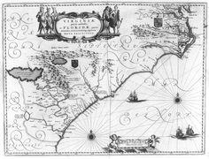 1640 map of east coast USA