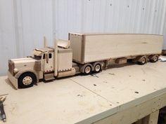 Wooden peterbilt truck