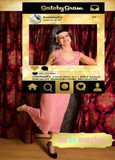 DIGITAL FILEPhoto frame Prop 24X36 Gatsby party by inkmebeautiful