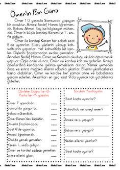 thumbnail of ömerin bir günü 2 Preschool Learning, Educational Activities, Teaching, Anchor Charts, Baby Lernen, Turkish Lessons, Learn Turkish Language, Learning Arabic, Studio