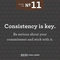 Tip #11: Consistency is key. @joycemeyermin #3030challenge