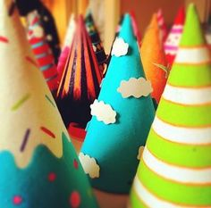Fun and Colorful party hats!