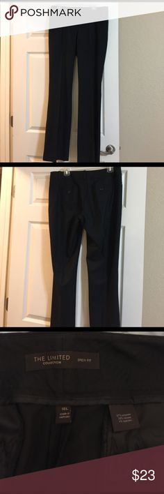 "The Limited Drew Fit Dress Pants 10L Very gently used The Limited brand dress pants. There are no stains, rips, or tears. They are 10L.  Measurements: 34"" with a 9"" rise. The Limited Pants Trousers"