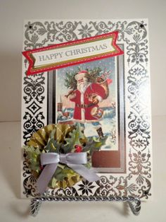 Anna Griffin Christmas card holiday greeting Victorian handmade New!