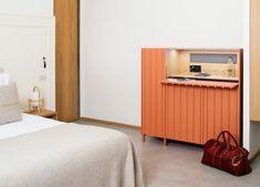 bustper minibar by papila embodies traditional mediterranean values Sofa Furniture, Furniture Design, Bedroom Workspace, Color Terracota, Modular Cabinets, Spanish Design, Drinks Cabinet, Space Interiors, Furniture Companies