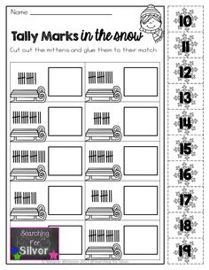 Tally Marks and other FUN winter printables for first grade!