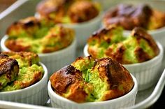 Light and fluffy asparagus souffle recipe.  Pureed asparagus mixed with bechamel and egg yolks, beaten egg whites folded it, baked to puffy golden deliciousness.