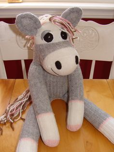 It's a sock monkey horse! Being in the country, a lot of people ask me to make these for them.