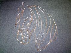 western wire art horse