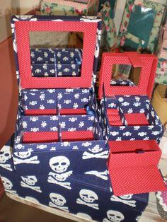 caixas em tecido