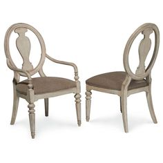 These chairs are gracefully crafted from New Zealand pine, and feature octagonal-turned legs, for an authentic, traditional look. Finished in off-white, they blend seamlessly into your dining decor. E