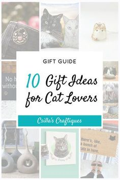10 Gift Ideas for Cat Lovers and their Cats - Cat owners, cat lady Gifts For Pet Lovers, Cat Gifts, Cat Lovers, Crazy Cat Lady, Crazy Cats, Pet Loss Gifts, Orange Tabby Cats, Custom Dog Portraits, Cat Pillow