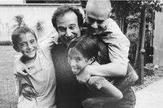 Robin Williams et ses enfants.