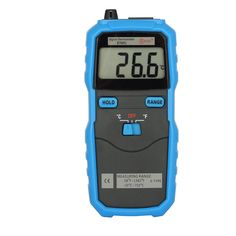 """LESHP Handheld Thermometer Digital Temperature Controller W/ K-Type BTM01 -50℃- 750℃ 1.77"""" 2-Channel Handhold Temperature - Couple Probe Blue Max. 120C K-Type for BSIDE"""
