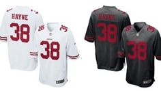 Flying off the shelves: The white and black options available at the 49ers' online store.