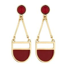 The Collection Red multi shape chandelier earring Debenhams, Chandelier Earrings, Shapes, Red, Bags, Collection, Handbags, Taschen, Purse
