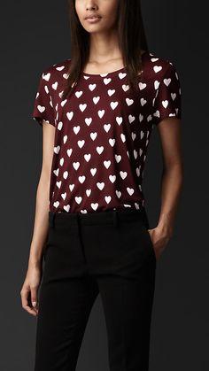 Heart Print T-shirt | Burberry