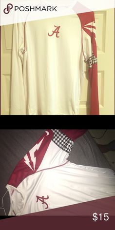 Nike Alabama Dri-Fit Long Sleeve T shirt Good condition. Worn once. Very comfortable material. Nike Shirts Tees - Long Sleeve