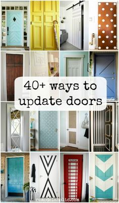 Lots of ways to update flat panel/hollow core, bifold, and outdated doors @Remodelaholic #ShutTheFrontDoorDIY