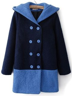 Fast Shipping World Wide Delivery:5-10 Days     Types :Coats     Color :Navy     Material :Woolen     Collar :Hooded     Style :Streetwear     Placket :Double Breasted     Length :Long     Season :Winter     Shoulder(cm) :M:38cm L:39cm     Bust(cm) :M:92cm L:96cm     Sleeve Length(cm)...