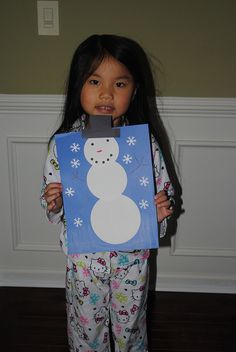 Easy Kid's Craft: build a snowman