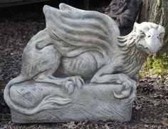 Pair Facing Griffin Garden Statues/Furniture/Gateposts