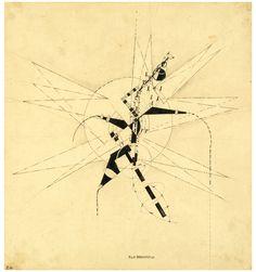 Ella Bergmann-Michel, Botanikplan II, 1921, pen and ink, brush and ink and pencil on board