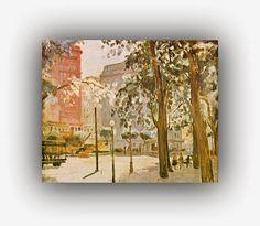 Vista Urbana, s.d.  Paulo Cláudio Rossi Osir (São Paulo, 1890 — São Paulo,1959) foi um pintor, desenhista, arquiteto e industrial brasileiro que teve grande