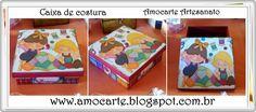 Caixa de costura - mdf madeira http://www.amocarte.blogspot.com.br/