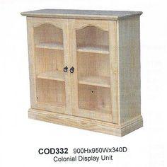 2 Door Display Cabinet - One Stop Pine