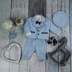 Special Occasion Boys Light Blue Suit – BabyUniqueCorn